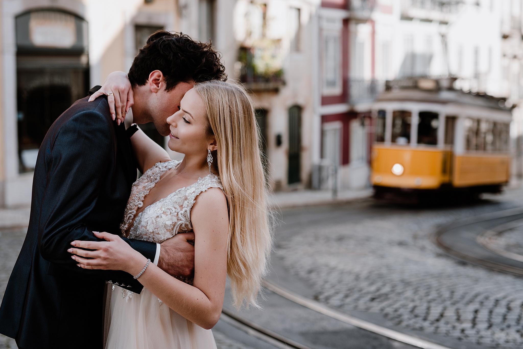 Zagraniczna sesja ślubna w Lizbonie