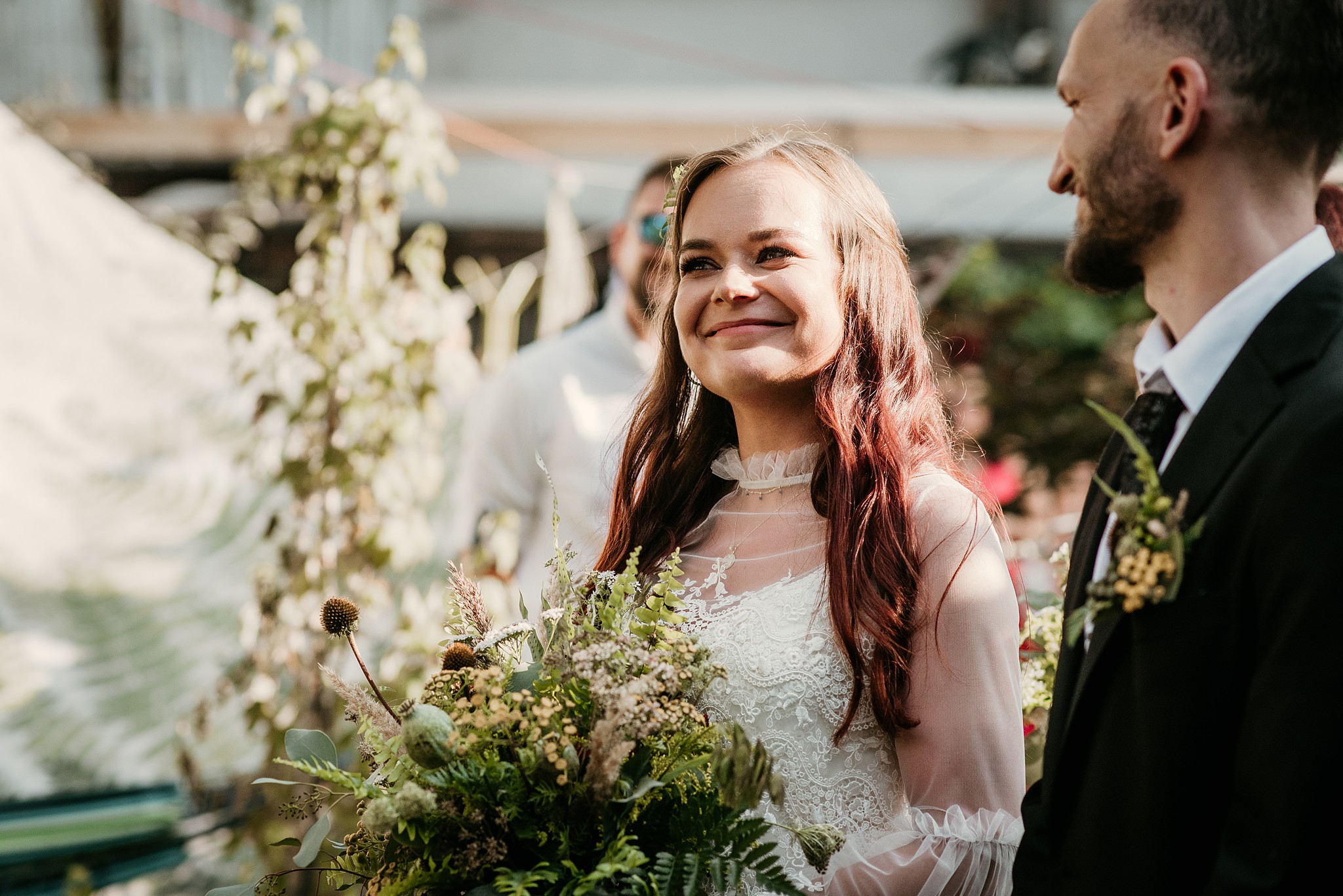 ślub boho w plenerze