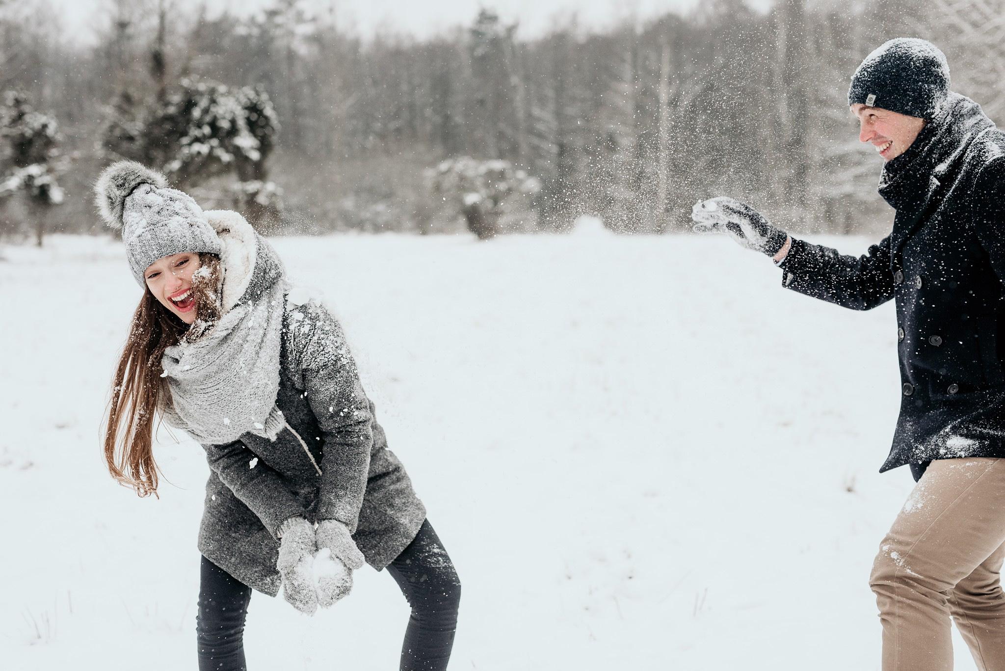 bitwa na śnieżki sesja