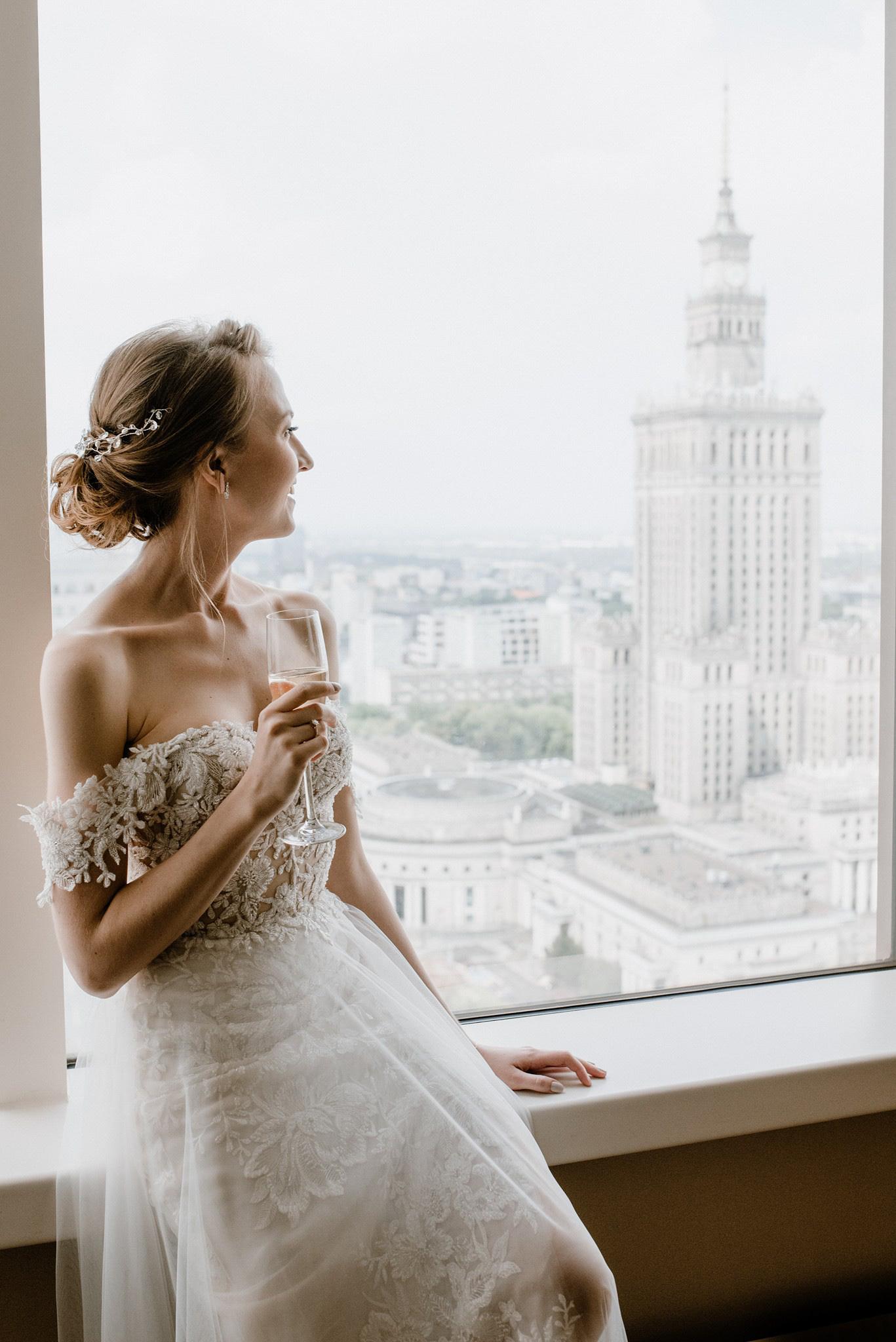 pałac kultury sesja ślubna