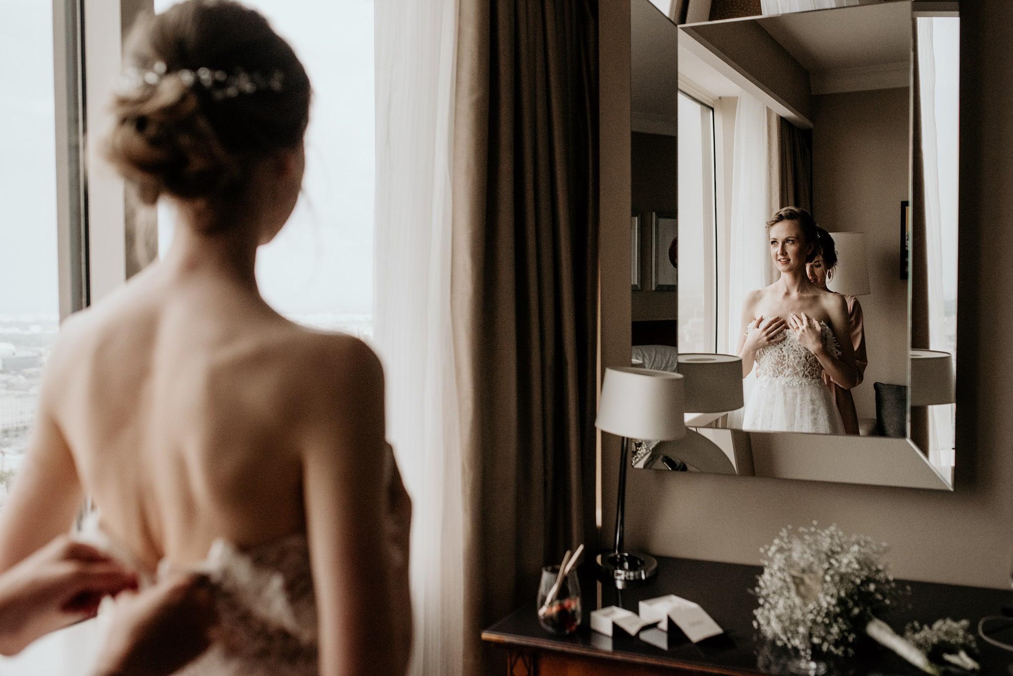 przymiarki sukni ślubnej