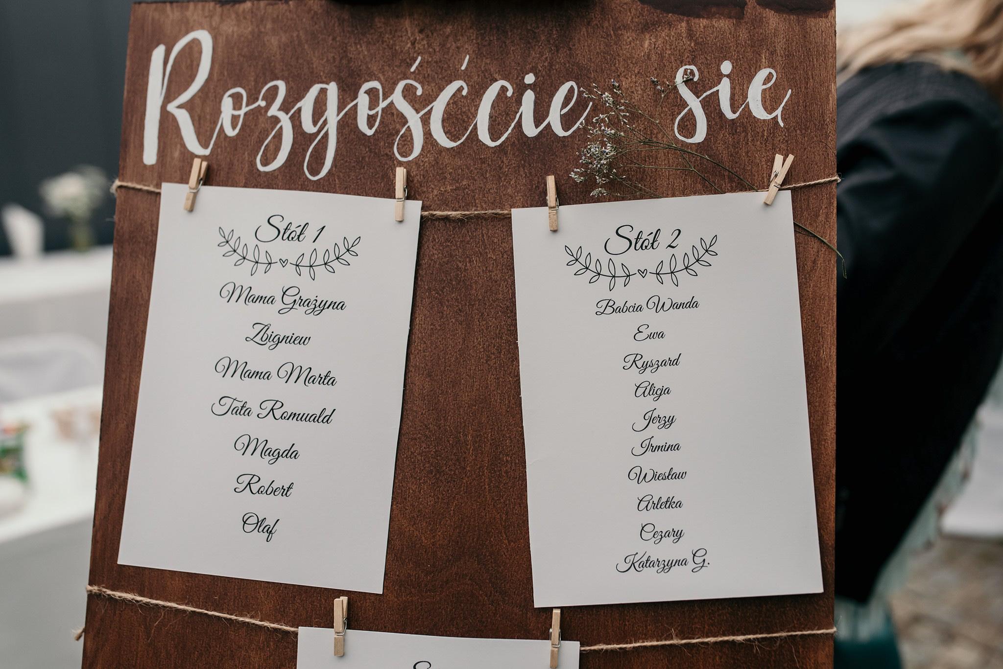 drewniane dekoracje ślubne